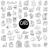 Black And  Cats Big Set Wall Sticker