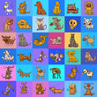 pattern with cartoon dogs design