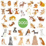 cute dog characters big set