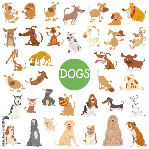 Fototapeta cute dog characters big set
