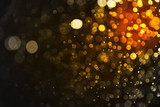 Abstract gold bokeh and black background, golden light Christmas - 162519174