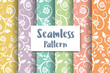 Seamless floral pattern repeating tiles backdrop background - 162528717