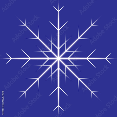 Foto op Canvas Violet Vector snowflakes.