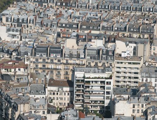 toit paris immeuble se loger immobilier logement béton densité population Poster