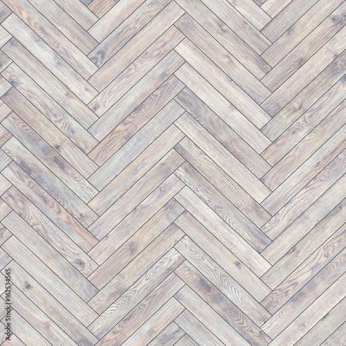 Seamless wood parquet texture (herringbone white) - 162534565