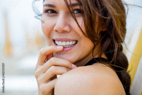 beautiful happy smile for a pretty girl