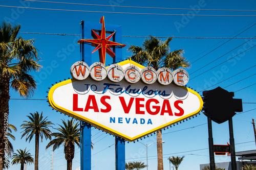 Foto Spatwand Las Vegas Welcome to faboulous Las Vegas sign