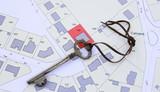 plan de terrain de construction,concept et clé - 162553578