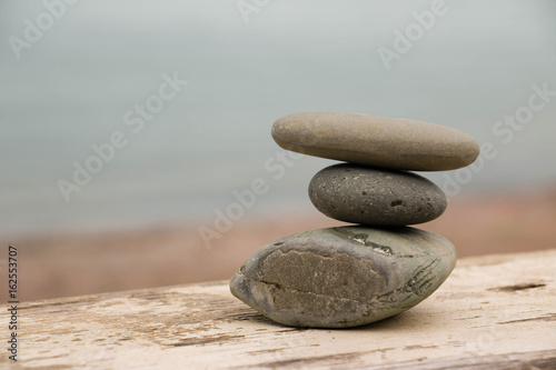 Hierarchy and Balance. Harmony. Feng Shui balance. Close-up picture of zen stones.