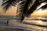 Shore angling and fishing on the beach in the Gambia, West Africa - 162555923