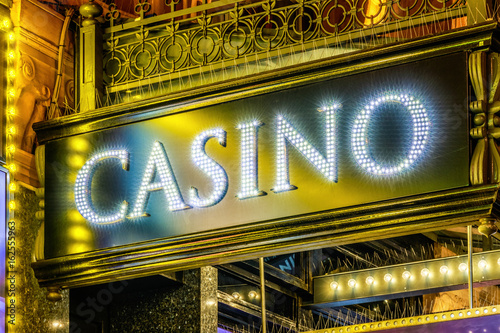 LED Lighting Casino Sign плакат