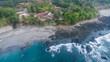 Aerial view of Montezuma Costa Rica