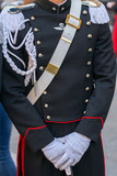 Detail of a protocol uniform of an Italian soldier - 162561106