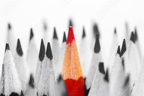 fototapeta na ścianę Red pencil among black and white