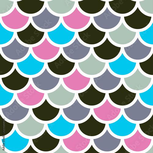 Cotton fabric mermaid scales