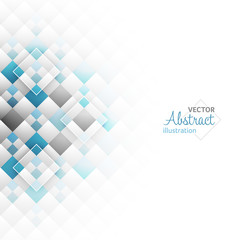 Abstract vector geometric futuristic background with squares.