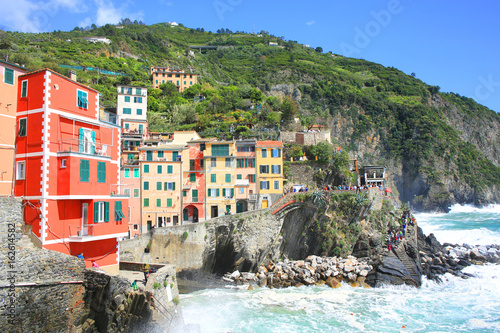 Scenic Riomaggiore in Cinque Terre National Park, Liguria, Italy