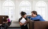 Couple flirting in Business center - 162616397