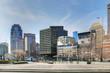 View of the Boston city center square