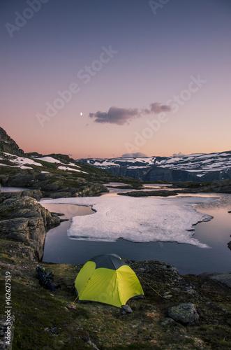 Norwegen - Campen am Trolltunga