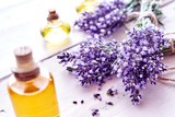 Aromatic purple lavender flowers with extracts - 162638378