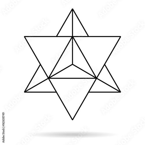 sacred geometry merkaba thin line geometric triangle shape