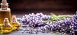 Quadro Panorama banner of lavender essential oil