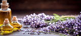 Panorama banner of lavender essential oil - 162638944
