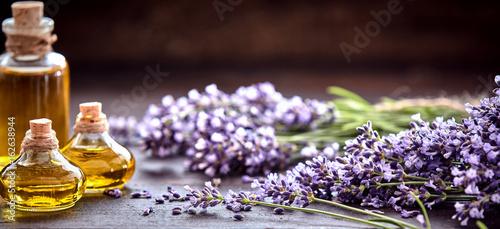 Papiers peints Lavande Panorama banner of lavender essential oil
