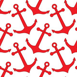 Vector Seamless Pattern with Anchors. Anchors Seamless Pattern Vector Illustration.
