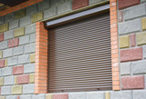 Shutter security barrier. Window with rolling shutter for house protection. Security Shutters Grilles. - 162658569