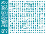 Set Of Icons, Quality Universal Pack, Big Icon Collection Vector Design Eps 10 - 162659160