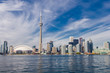Toronto city skyline view from Toronto Islands
