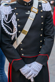 Detail of a protocol uniform of an Italian soldier - 162677391