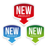 New Product label vector - 162677902