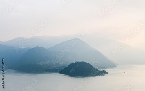 Foggy hills around Bellagio, Lago di Como - 162682739