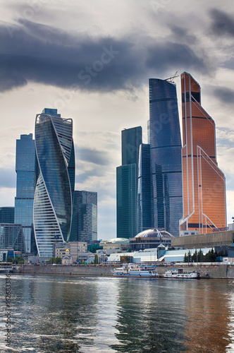 Moscow City. The center of business in Russia. Conduction of financial transactions. Moscow Russia. - 162683386