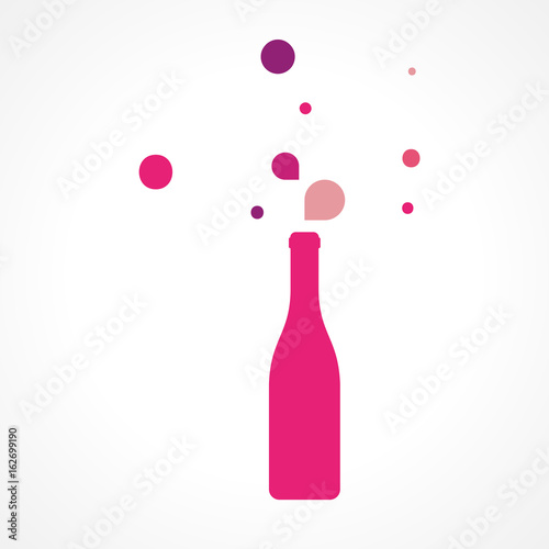 illustration bouteille vin