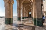 Arcade with islamic decoration, Mosque Hassan II in Casablanca, Morocco