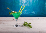 Delicious mint cocktail