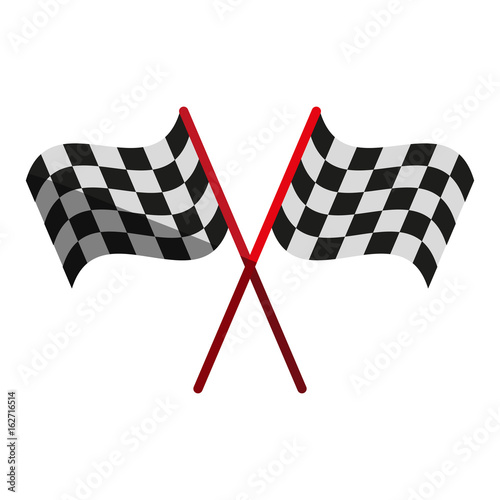 Fotobehang F1 final lap flags icon image