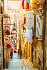 Street in old town of Dubrovnik