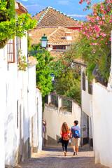 Ruelle du quartier de  Albaicín, Grenade, Andalousie © aterrom