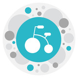 Vector Illustration Of Baby Symbol On Bike Icon. Premium Quality Isolated Tricycle Element In Trendy Flat Style.