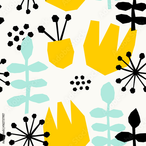 Abstract Floral Pattern - 162737987