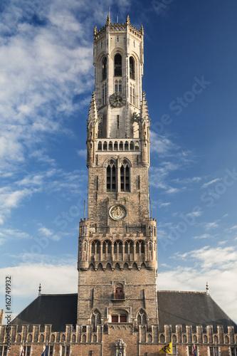 Spoed canvasdoek 2cm dik Brugge The Belfort in Bruges