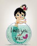 Cute Cartoon Mermaid Wall Sticker