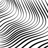 Abstract pattern, black and white stripes wavy .For Wallpaper,fabrics,t-shirts, and so on.Vector illustration. - 162754543