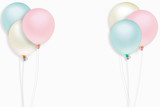 colorful balloon on white background for graphic concept	 - 162761126