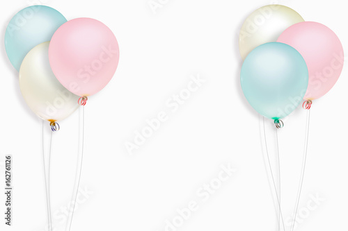 colorful balloon on white background for graphic concept